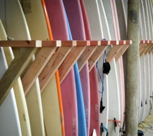 Hire surfboards and wetsuits from Aotearoa Surf School