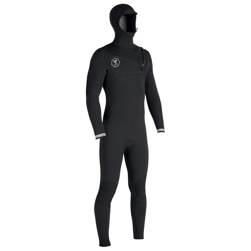 Vissla 7 Seas 4/3 hooded suit - black