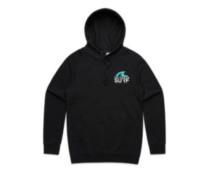 Aotearoa Surf Hoodie FRONT BLACK