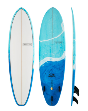 Aotearoa Surf. Modern. Falcon. Blue Swril. 1