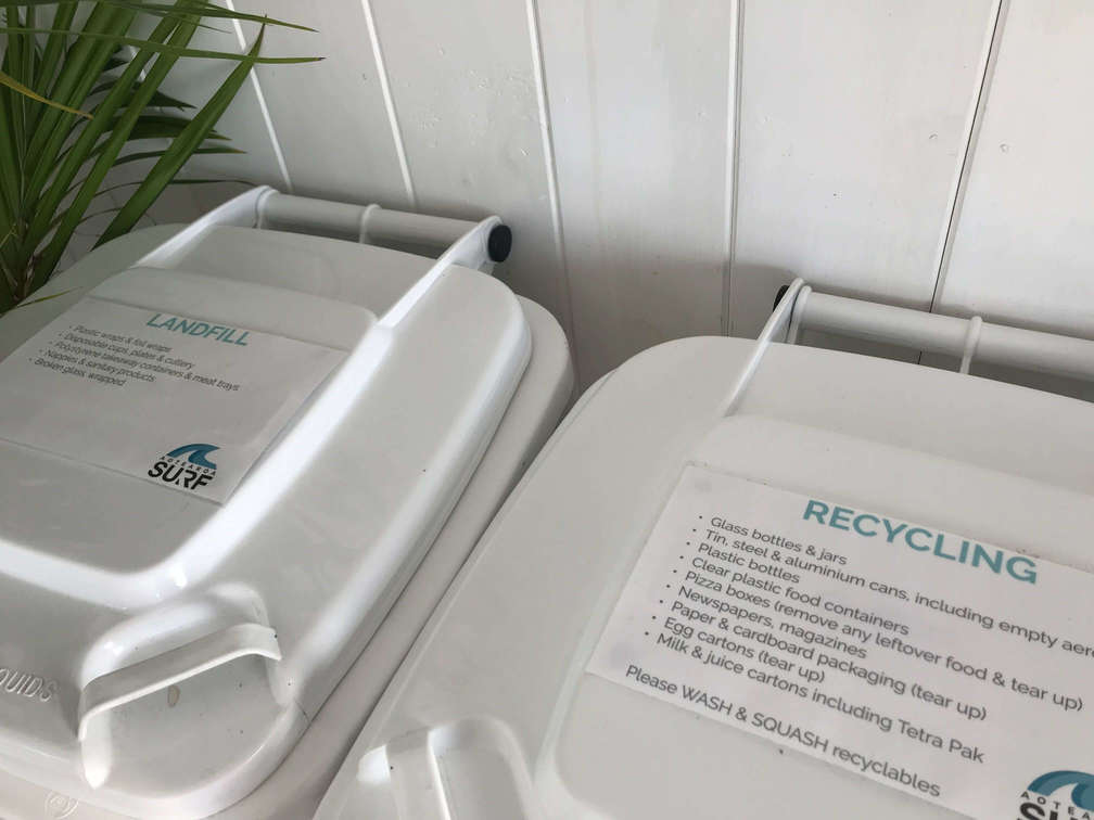 Recycling system - Aotearoa Surf School